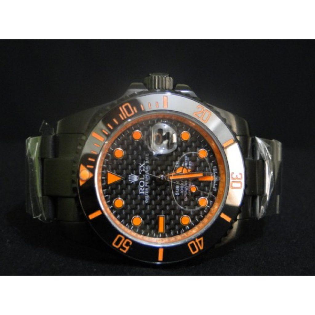 dd2999f8174 Réplica de Relogio Rolex Submariner Orange  réplicas de relógios de luxo