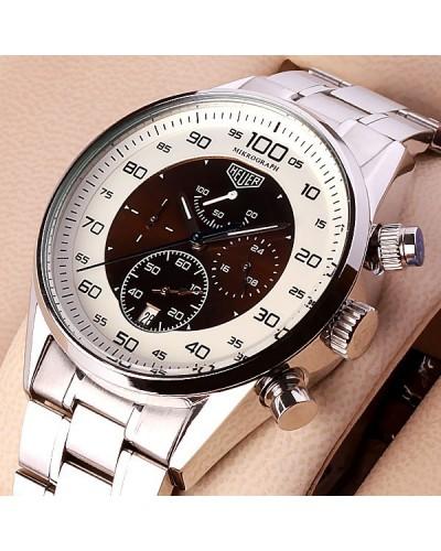 4e63fc4b995 Relógio réplica Tag Heuer Carrera Mikrograph 100 Brown a preços populares