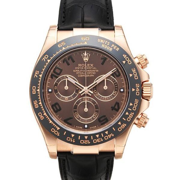 4896d80a80d Se impressione com as réplicas de relógios femininos. Rolex Daytona Dark  Chocolate  ...
