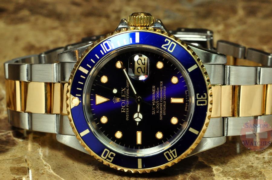 3dd79eab87e Relógios Rolex réplicas. Relógio Rolex Submariner Blue Gold  ...
