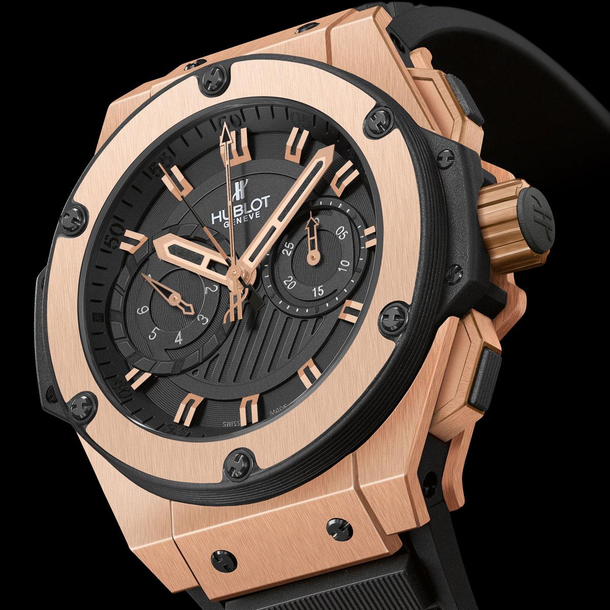 96c2d1e9ad3 Réplica do relógio Hublot King Power Dourado